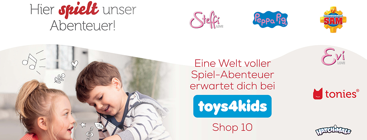 Toys4Kids im Parndorf Fashion Outlet Header